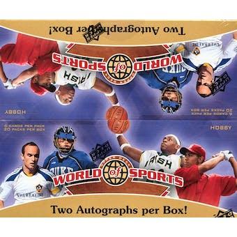2010 Upper Deck World of Sports Hobby Box