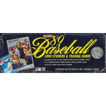 1989 Fleer Glossy Baseball Factory Set