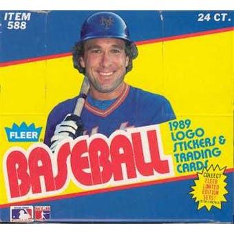 1989 Fleer Baseball Cello Box