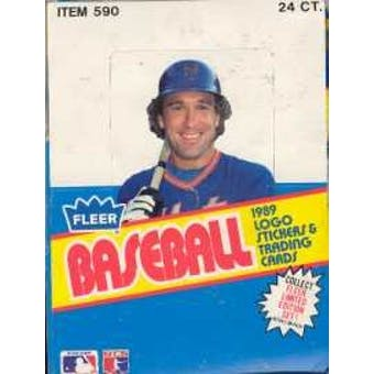 1989 Fleer Baseball Rack Box