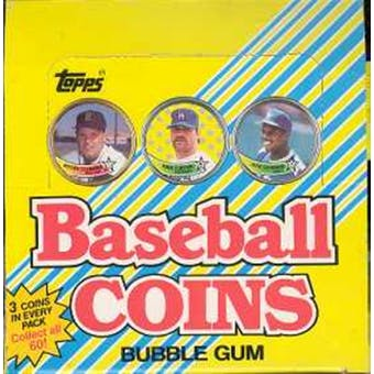 1989 Topps Coins Baseball Wax Box