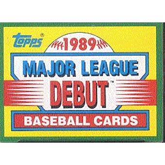 1989 Topps Major League Debut Baseball Factory Set