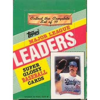 1989 Topps League Leaders Baseball Wax Box
