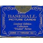 1989 Topps Tiffany Traded & Rookies Baseball Factory Set