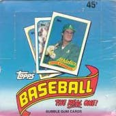 1989 Topps Baseball Hobby Box (Test Wrap) (Reed Buy)