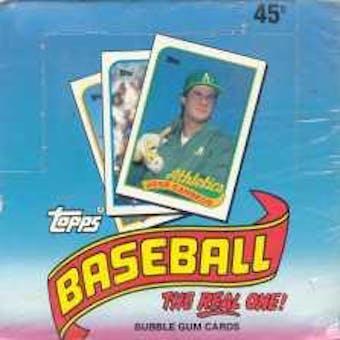 1989 Topps Baseball Hobby Box (Test Wrap) (Reed Buy)