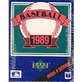 1989 Upper Deck High # Baseball Factory Set