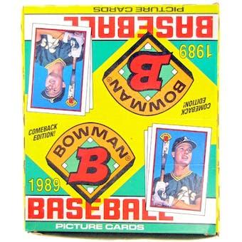1989 Bowman Baseball Rack Box