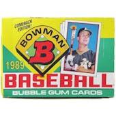 1989 Bowman Baseball Wax Box (Reed Buy)