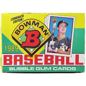 1989 Bowman Baseball Wax Box