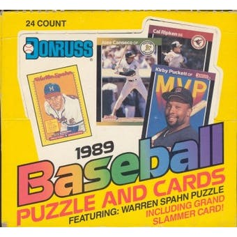 1989 Donruss Baseball Super Cello Box