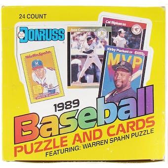 1989 Donruss Baseball Cello Box