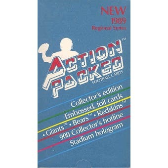 1989 Action Packed Football Wax Box
