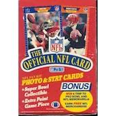 1989 Pro Set Series 1 Football Wax Box