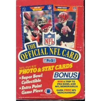 1989 Pro Set Series 1 Football Wax Box