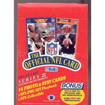 1989 Pro Set Series 2 Football Wax Box