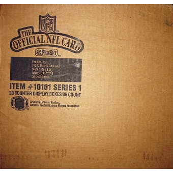 1989 Pro Set Series 1 Football 20 Box Wax Case