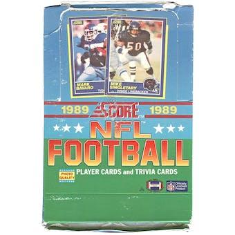 1989 Score Football Wax Box