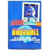 1989 Score Baseball Wax Box (Reed Buy)