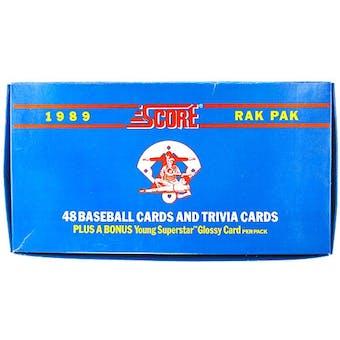 1989 Score Baseball Rack Box