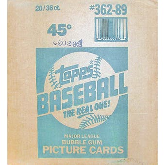 1989 Topps Baseball Wax 20-Box Case