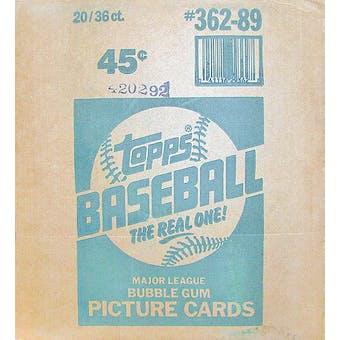 1989 Topps Baseball Wax 20-Box Case