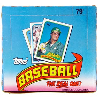 1989 Topps Baseball Cello Box (24 packs)