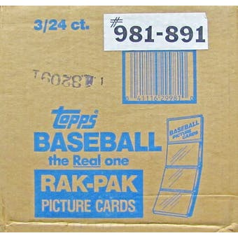 1989 Topps Baseball Rack 3-Box Case