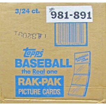 1989 Topps Baseball Rack 3-Box Case