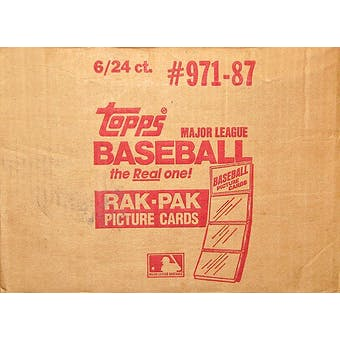 1987 Topps Baseball Rack 6-Box Case (Reed Buy)