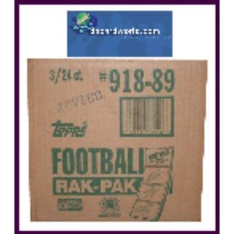 1989 Topps Football Rack 3-Box Case