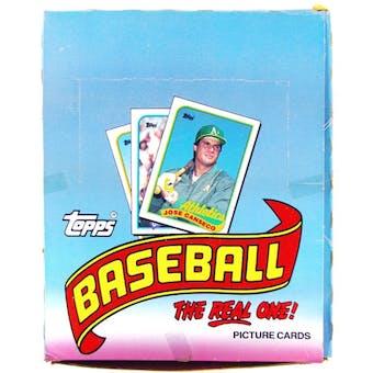 1989 Topps Baseball Rack Box