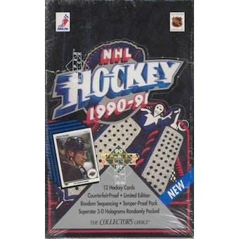1990/91 Upper Deck English Low # Hockey Wax Box