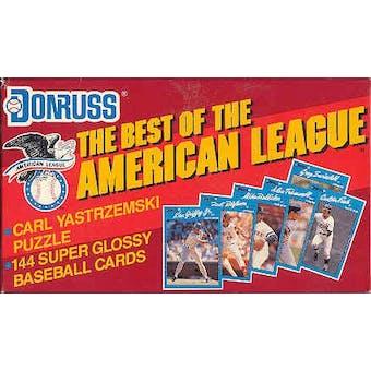 1990 Donruss Best of the American League Baseball Factory Set