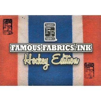 2010/11 Famous Fabrics Ink - Hockey Edition Hobby Box