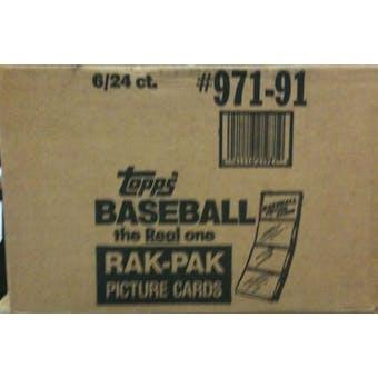 1991 Topps Baseball Rack 6-Box Case