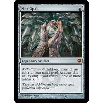 Magic the Gathering Scars of Mirrodin Single Mox Opal FOIL - SLIGHT PLAY (SP)