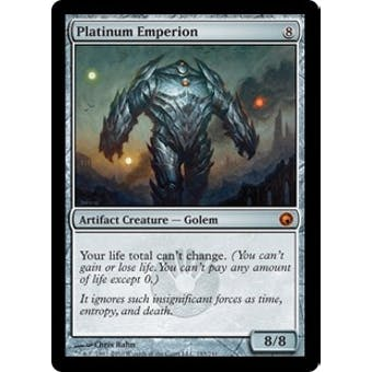 Magic the Gathering Scars of Mirrodin Single Platinum Emperion FOIL - MODERATE PLAY (MP)