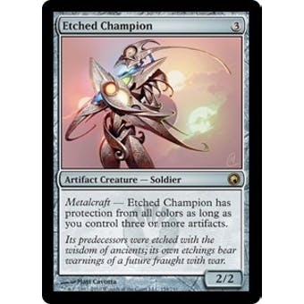 Magic the Gathering Scars of Mirrodin Single Etched Champion - NEAR MINT (NM)