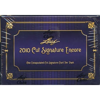 2010 Leaf Cut Signature Encore Hobby Box