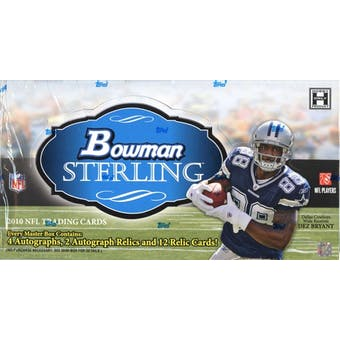 2010 Bowman Sterling Football Hobby Box