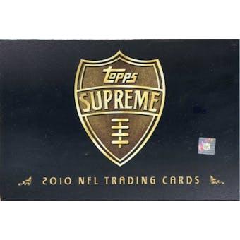 2010 Topps Supreme Football Hobby Box (Reed Buy)