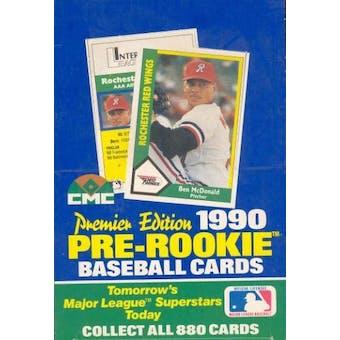 1990 Pre-Rookie (AAA) Premier Edition Baseball Wax Box