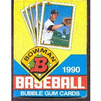 1990 Bowman Baseball Wax Box