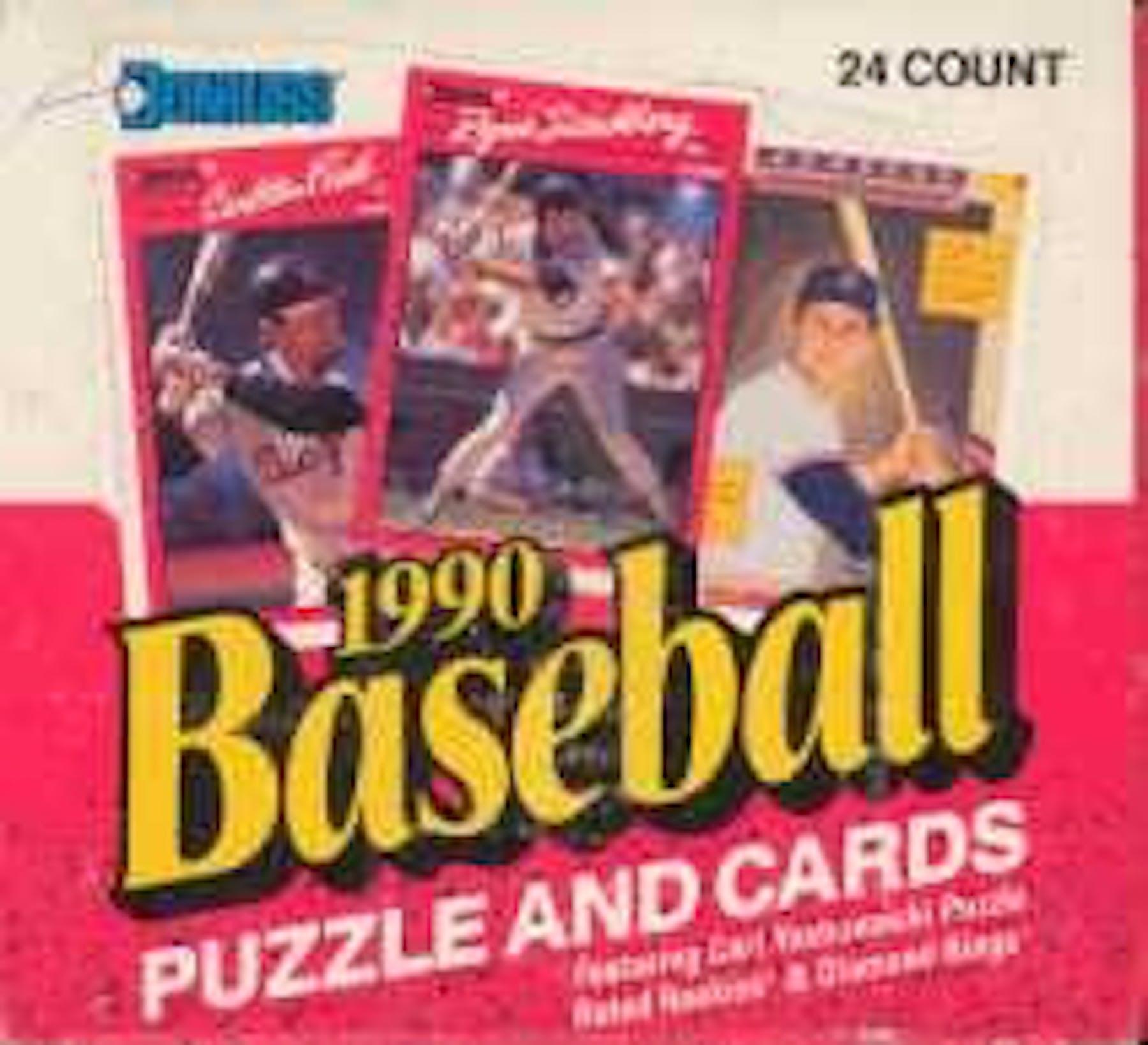 1990 Donruss Baseball Cello Box Da Card World