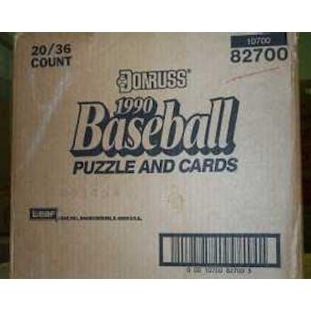 1990 Donruss Baseball Wax 20-Box Case