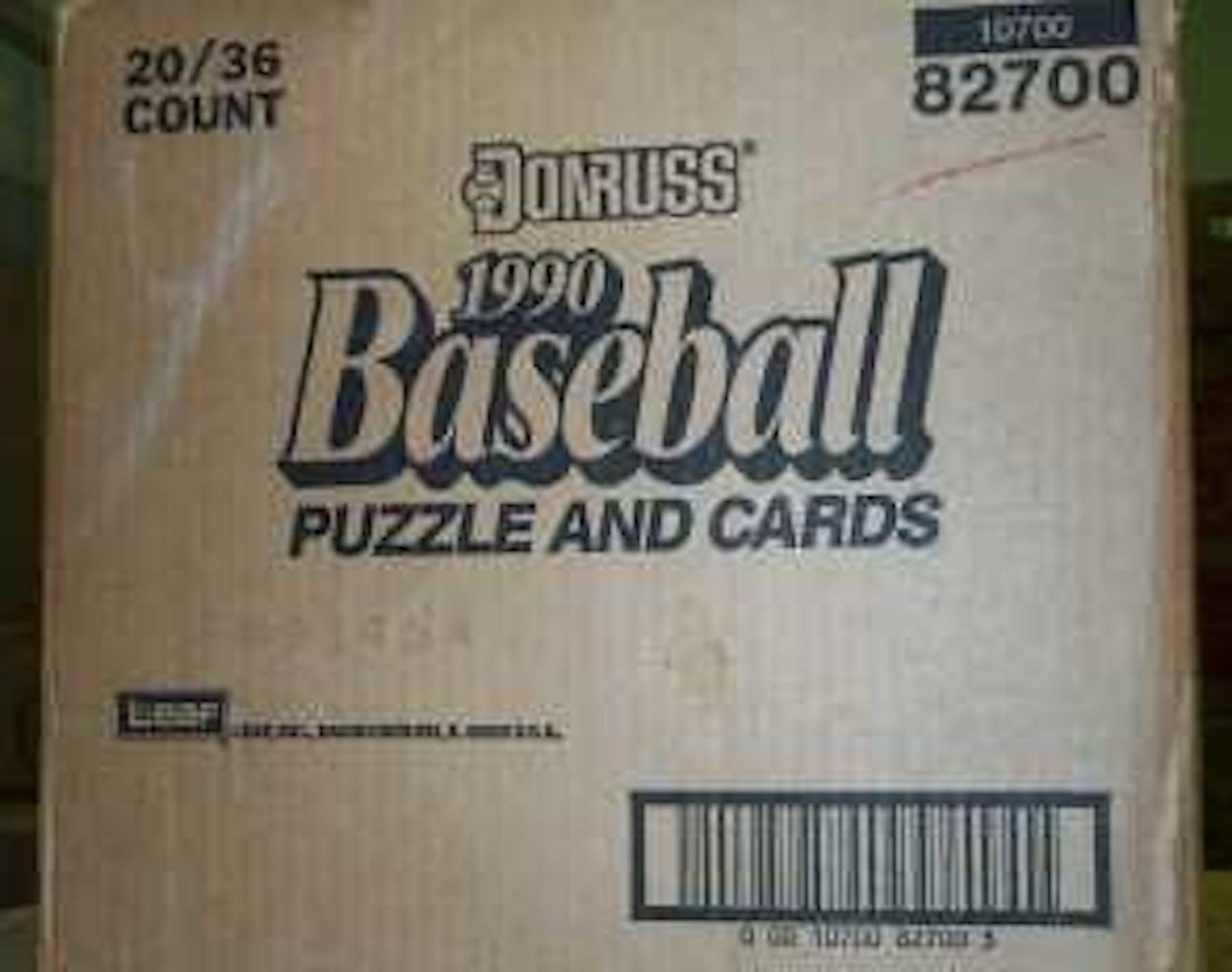 1990 Donruss Baseball Wax 20 Box Case Da Card World
