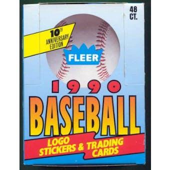 1990 Fleer Baseball Canadian Edition Wax Box (Extremely Rare!)