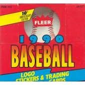 1990 Fleer Baseball Cello Box