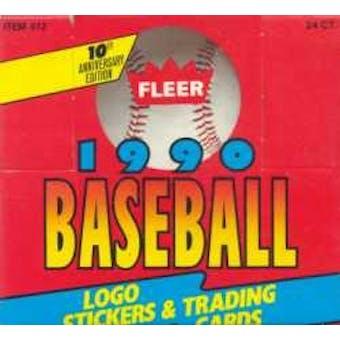 1990 Fleer Baseball Cello Box (Reed Buy)